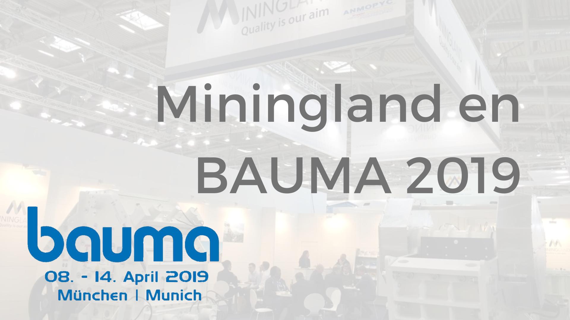 Miningland bauma 2019